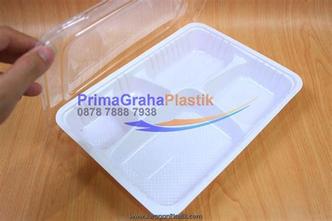 Box Bento Putih box bento putih xl 5 sekat 5 partisi stock ready home