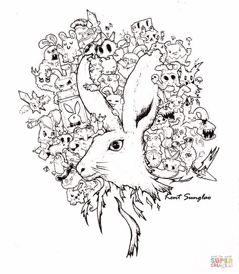 deb s doodle do coloring book two books in a bunny s tale doodle by kent sunglao coloring page