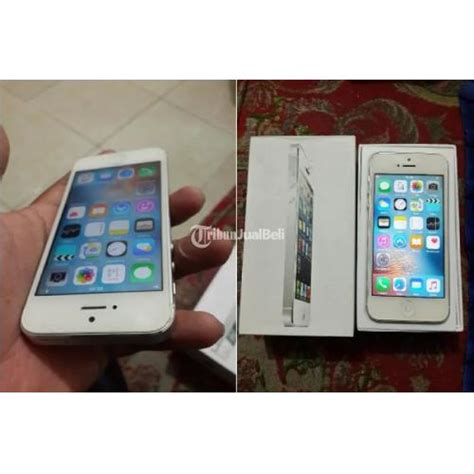 Handphone Iphone Second handphone iphone 5 fu 32 gb few dent fullset second surakarta dijual tribun jualbeli