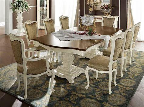 Vintage Dining Table Meja Meja Antik Meja Makan Tarik 6 Kursi kursi makan klasik produk mewah aura mebel furniture