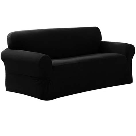 black loveseat covers mainstays pixel loveseat slipcover walmart ca