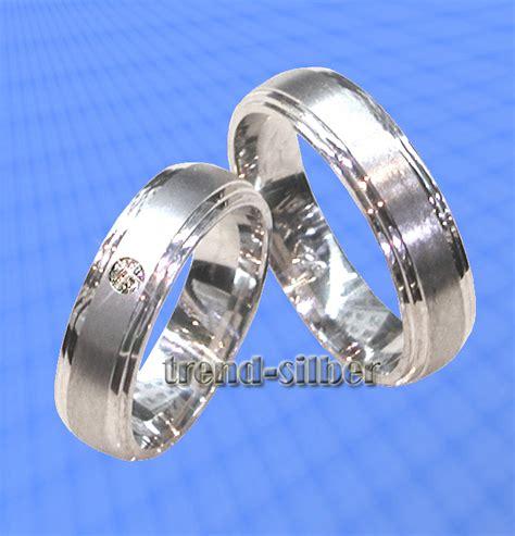 Eheringe Silber Mit Stein by Trauringe Eheringe Mit Stein Silber 925 J8 1 Ebay
