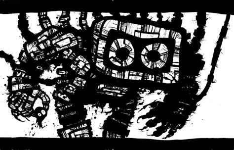 gambar animasi keren hd hitam putih bergerak