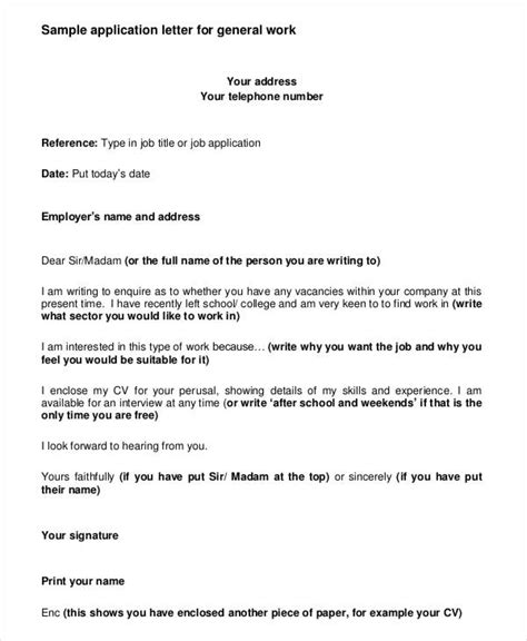 does an application letter an address application letter format and exles