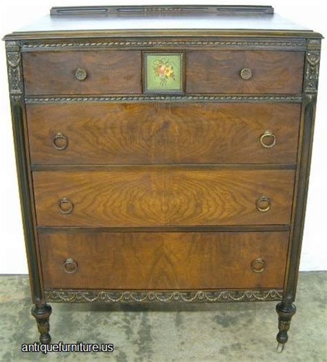 antique burl walnut paint decorated chest at antique furniture us