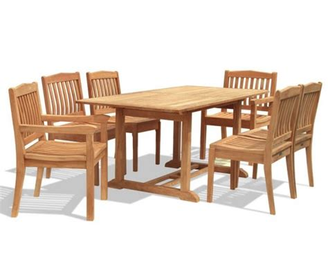 8 Seater Patio Table And Chairs Hilgrove 8 Seater Garden Patio Table And Stacking Chairs Set