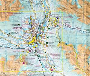 map of jasper jasper and maligne lake gem trek mapscompany