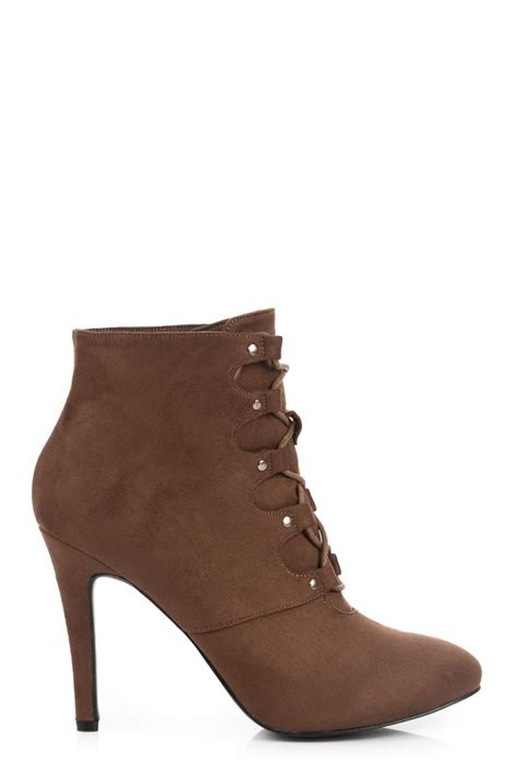 brown high heel booties fashion e shop high heels suede booties brown 040 zoki006