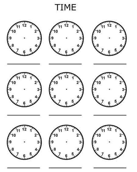 printable clock preschool time worksheet for kindergarten clock practice worksheet
