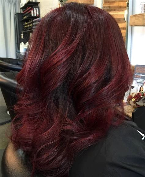 hair lighter shade on bottom 49 of the most striking dark red hair color ideas
