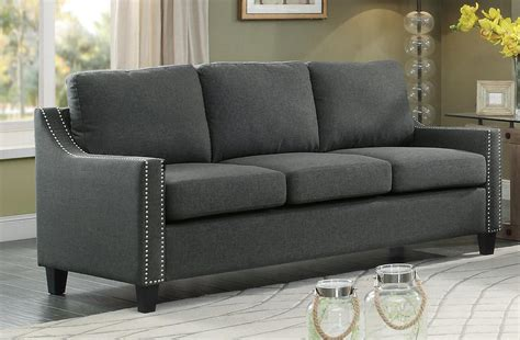 Home Elegance Furniture by Homelegance Pagosa Sofa Polyester Grey 8328 3