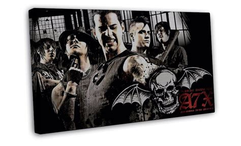 Avenged Sevenfold Metal Band avenged sevenfold metal band 20x16 framed canvas print
