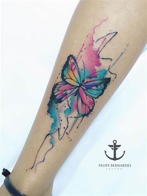 watercolor butterfly tattoo joyful watercolor tattoos by felipe bernardes noda luka