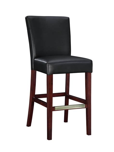 black leather bar stools counter height bonded leather bar stool black 273 847 decor south