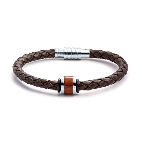 Aagaard Mens Jewelry Leather Bracelet No 1232   Landing Company