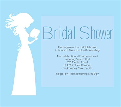 bridal shower template invitations free 28 images 25