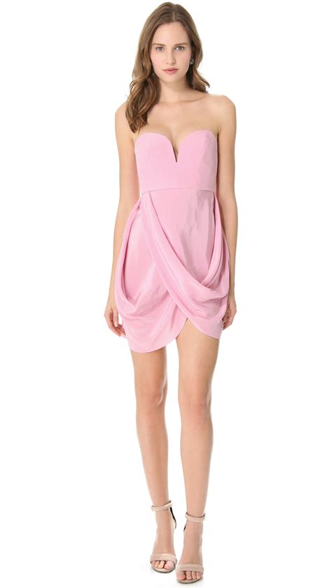 zimmermann draped dress zimmermann draped dress in pink rosa lyst