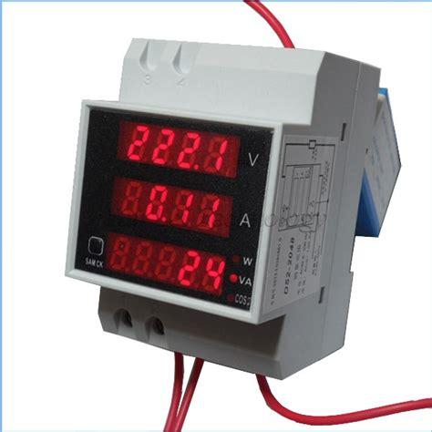 Fort Ac Digital Voltmeter 1display U Panel Metering multifunctional digital display ac 80 300v 0 100a voltmeter meter volt power meter