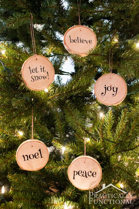 Wood Christmas Tree Ornaments - diy wood slice christmas ornaments