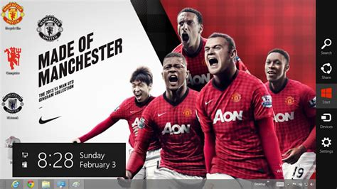 theme windows 8 1 manchester united 2 tema manchester united windows 8