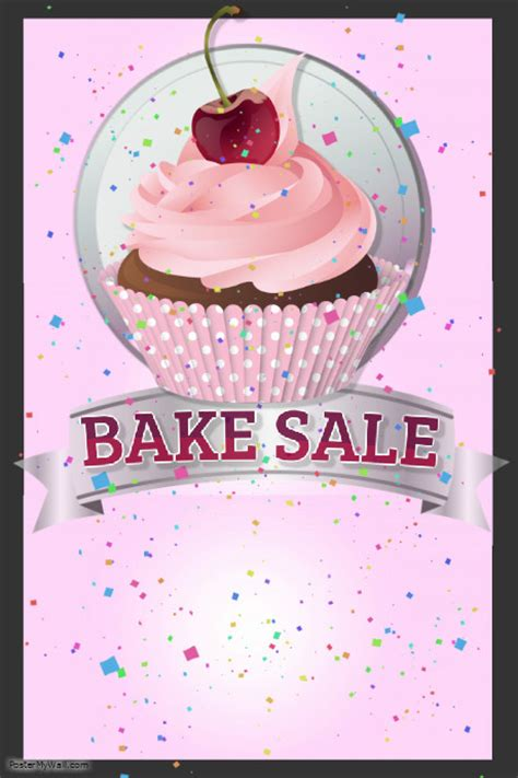 bake sale flyer free template bake sale template postermywall