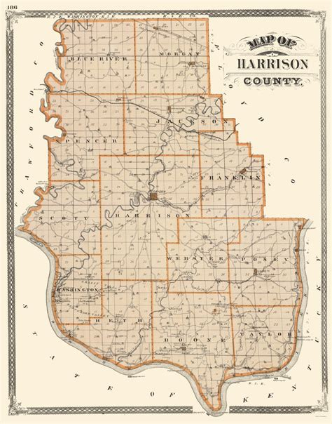 harrison county map county maps harrison county indiana in by baskin