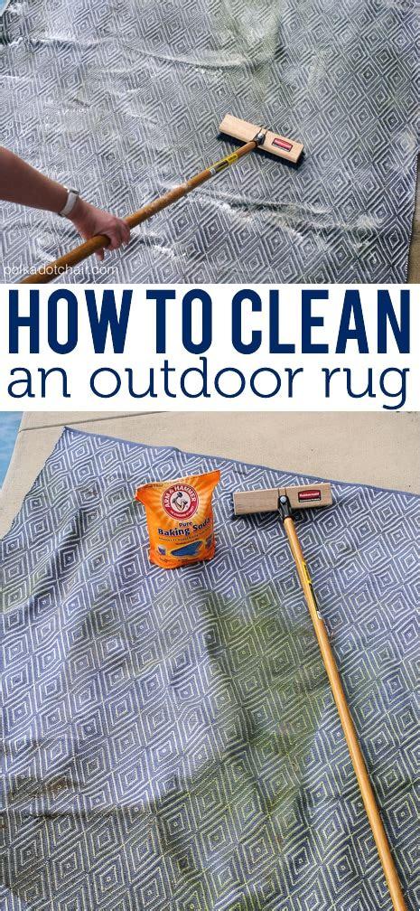 clean  outdoor rug  polka dot chair blog