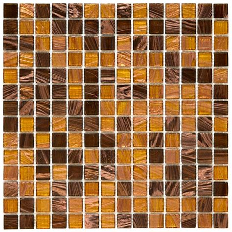 amber mosaic floor l merola tile coppa amber 12 in x 12 in x 4 mm glass