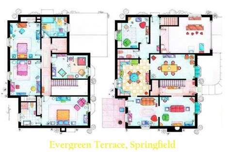 the simpsons house floor plan the simpsons house floor plan by i 241 aki aliste lizarralde deco inspiration pinterest floor