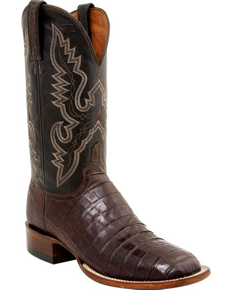 lucchese caiman square toe boots lucchese s caiman roper boot square toe cl1009