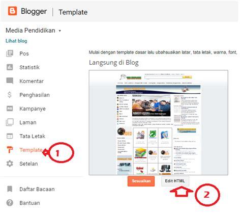 membuat menu horizontal html media pembelajaran berbasis internet media online