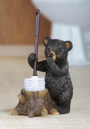 bear toilet paper holder black bear toilet roll holder