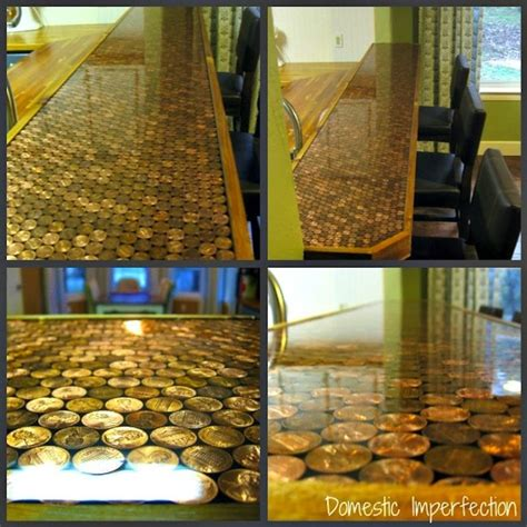 creative bar tops diy penny countertops bob vila