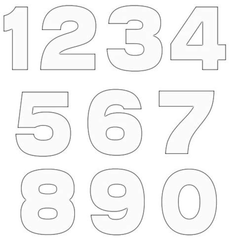 printable numbers template free numbers clipart free craft project clipart