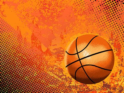 cool basketball and background elements of vector material