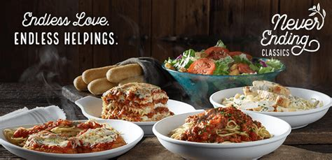 can u order olive garden to go olive garden never ending promotion unlimited classics starting at 11 99