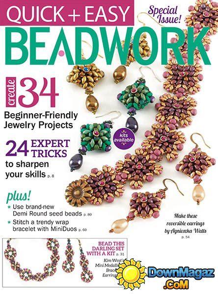 beadwork simple easy beadwork 2017 187 pdf magazines