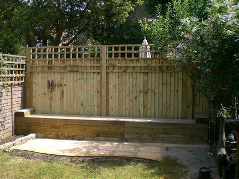 Railway Sleeper Fence by Railway Sleepers 171 Garden Gurus Landscape Gardening In