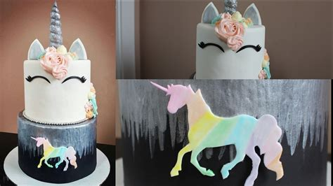 unicorn tutorial unicorn rainbow cake tutorial