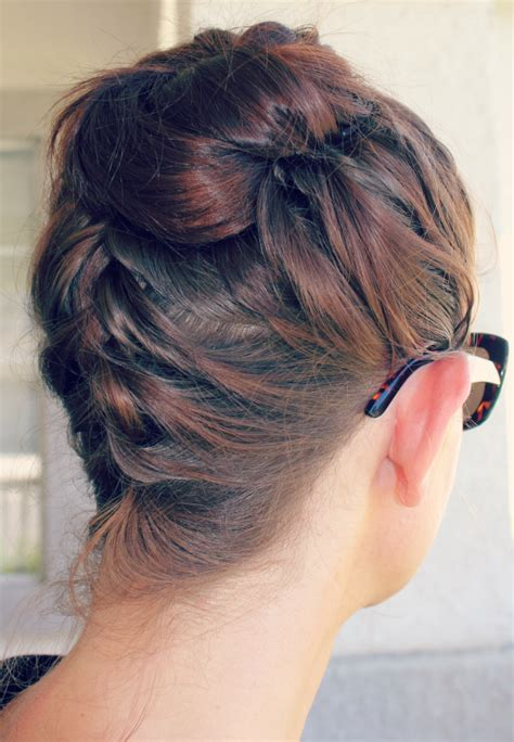 the knot so braided bun beat the heat the top knot ma nouvelle mode