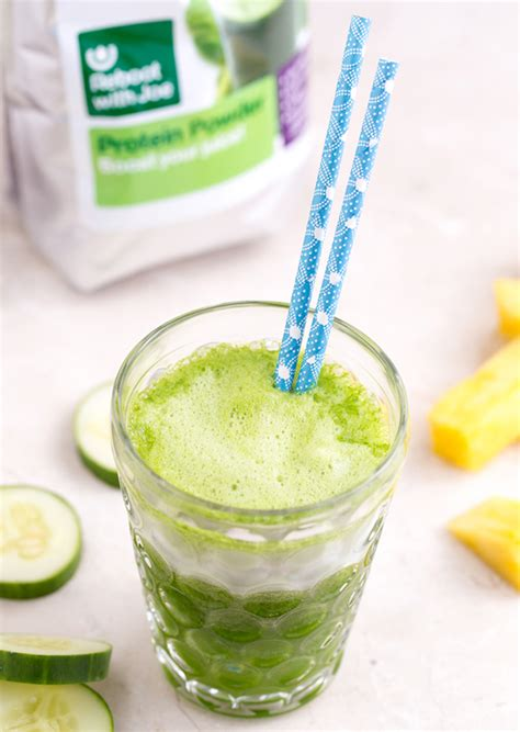 protein juice powder green protein boost juice reboot with joe