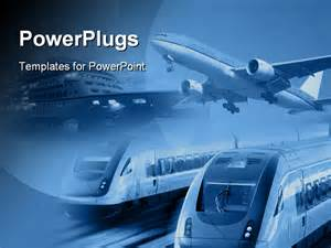 powerpoint templates transportation collage of transportation industry powerpoint template