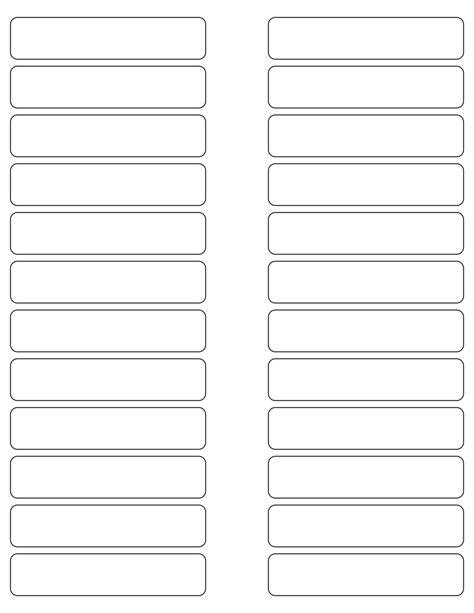 White Glossy Labels 3 5 X 0 7 Quot Rectangle M 6 Wholesale Supplies Plus 3 5 X 5 Label Template