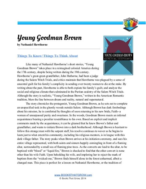 literary analysis essay for young goodman brown coursework help