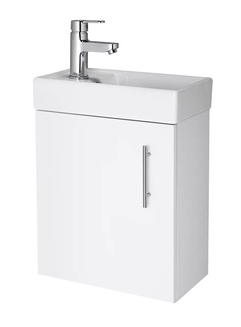 compact 400mm bathroom cloakroom vanity unit basin sink