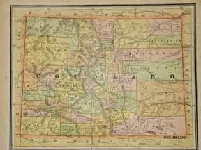 vintage colorado map vintage 1883 colorado map antique atlas map free s