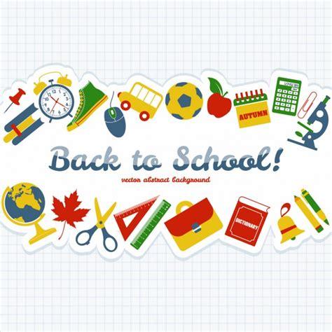 imagenes logos escolares fondo de objetos escolares descargar vectores gratis