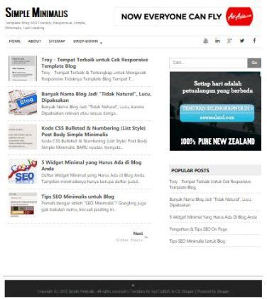 simple seo fast responsive blogger template cb blogger lab