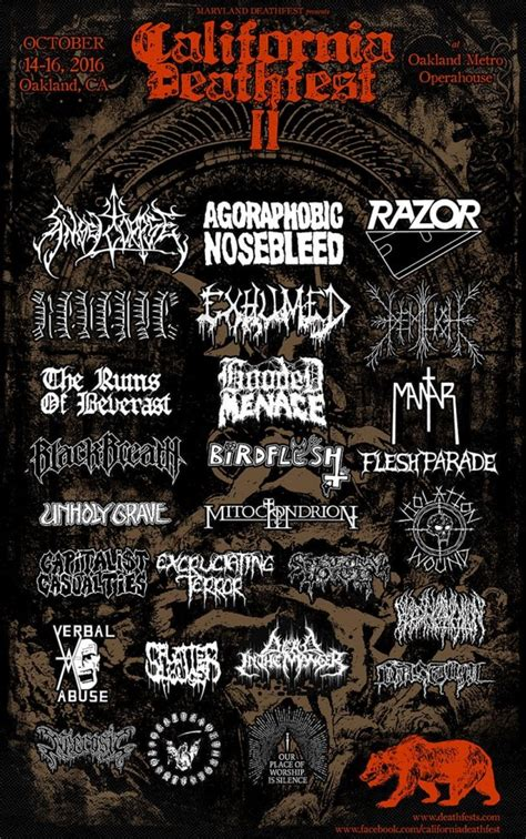 maryland deathfest map demilich confirmed metal festivals