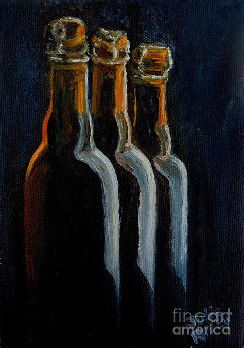 Julie Gibb Bottles I Like by Bottles Painting By Julie Brugh Riffey